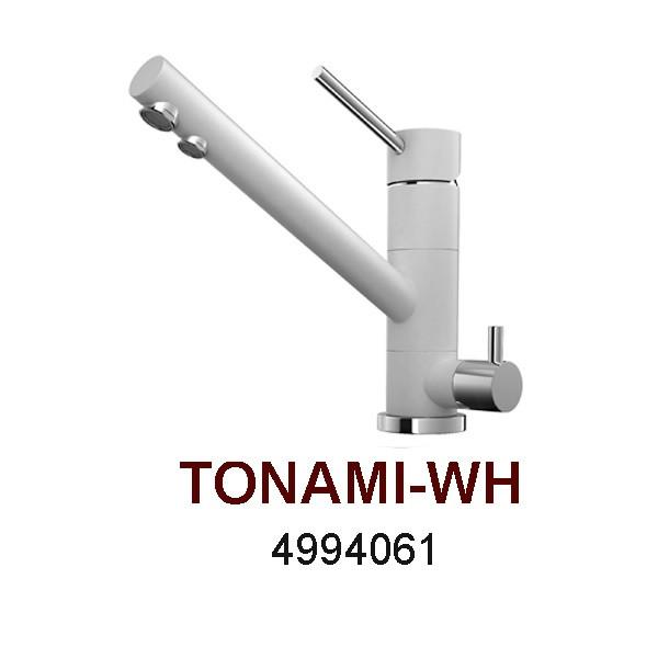 Смеситель OMOIKIRI TONAMI-WH (4994061), белый/хром
