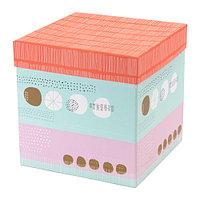 Коробка с крышкой КВИТТРА разноцветный ИКЕА, IKEA , фото 1