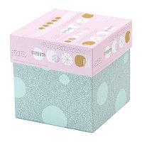 Коробка с крышкой КВИТТРА, разноцветный, ИКЕА, IKEA , фото 1