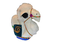 Верблюжонок лежачий из войлока ручной работы