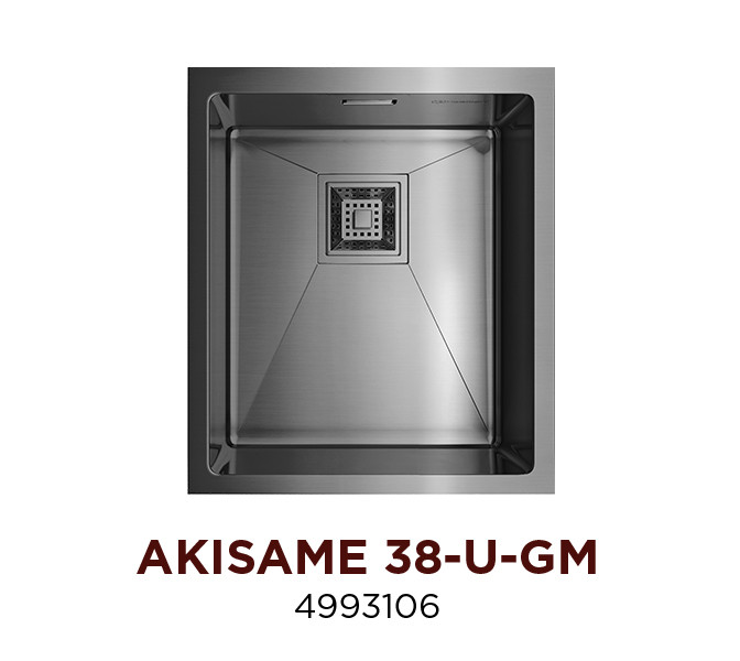 Кухонная мойка стальная OMOIKIRI AKISAME 38-U-GM (4993106)