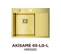Кухонная мойка стальная OMOIKIRI AKISAME 65-LG-L (4993083), фото 1