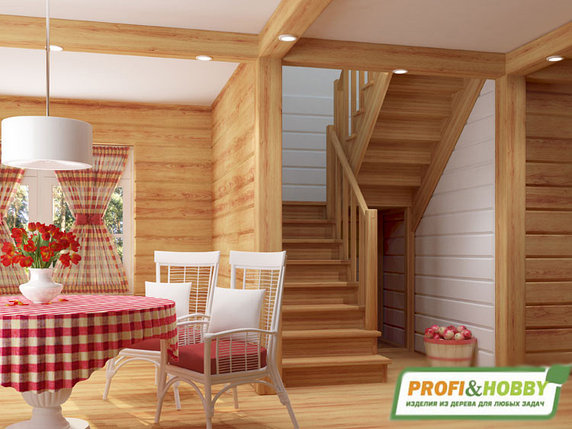 Купить неокрашенную лестницу из сосны Доставка по РК бесплатно!!!, фото 2