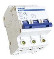 Автоматические выключатели DZ47-63 3P C6, также в наличии АВ С10-С63
