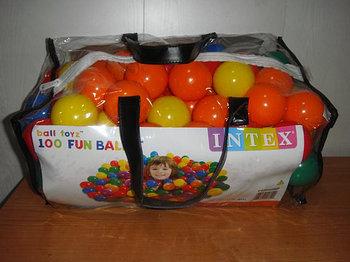 Мячи для бассейна intex 100 штук