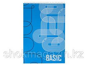 """Блокнот на спирали """"Basic"""" А4, 60 листов"""