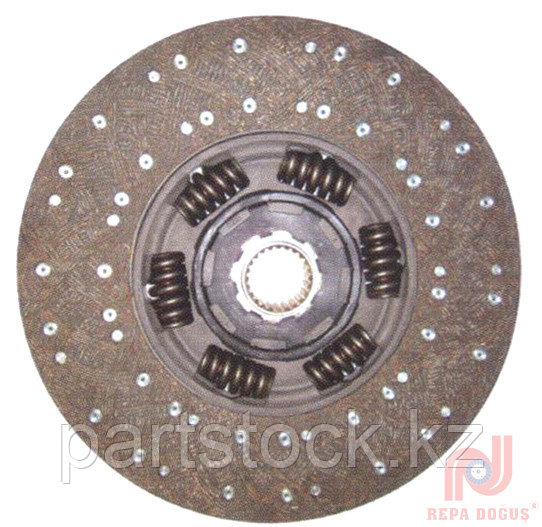 Диск сцепления 430 mm  24 зуб открытые пружины (6 шт)  на / для SCANIA, СКАНИЯ, REPA 108 552