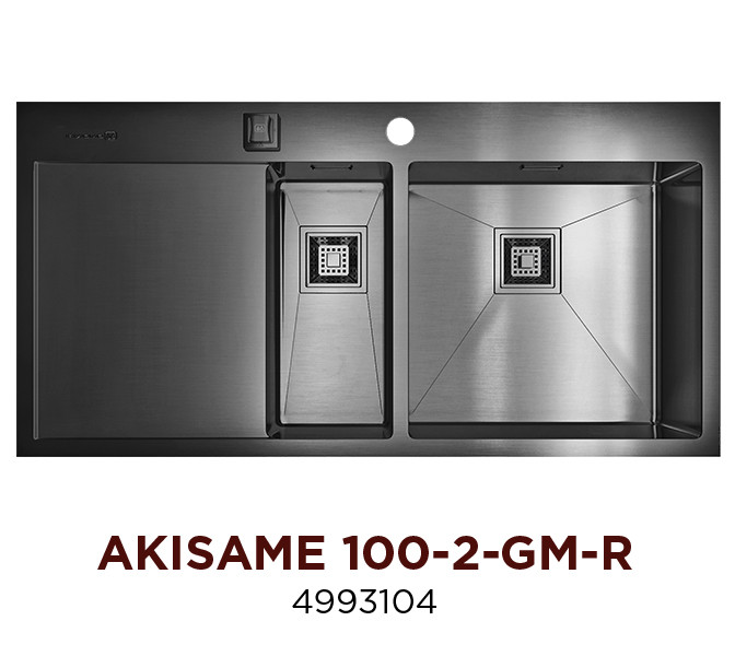 Кухонная мойка OMOIKIRI AKISAME 100-2-GM-R (4993104)