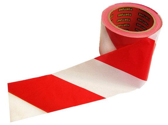 СИГНАЛЬНАЯ ЛЕНТА 70мм*150м красно-белая, фото 2