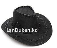 Карнавальная шляпа ковбоя (черная)