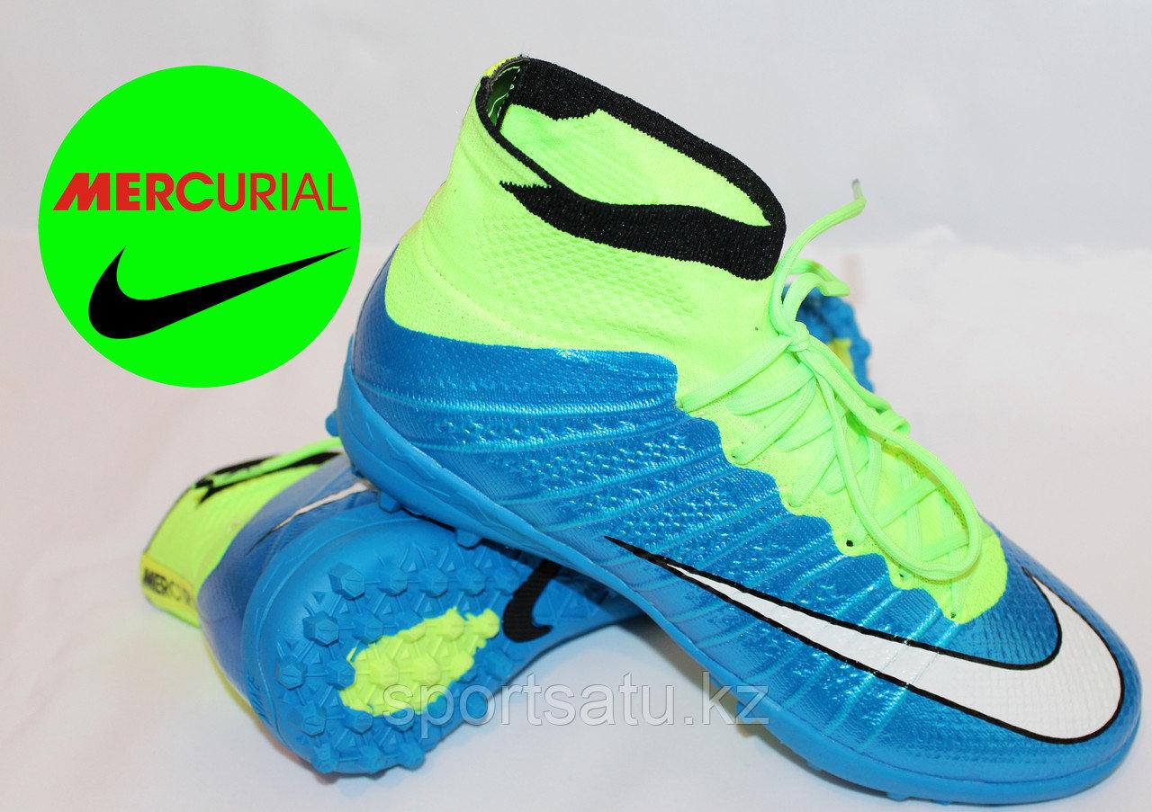 Футбольные бутсы (сороконожки) с носками MERCURIAL детские, подростковые