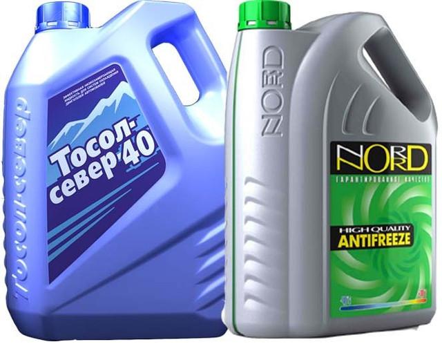 Охлаждающие жидкости для автомомобиля