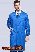 Лабораторный халат, синий, фото 1