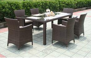 Набор мебели, стол+ 6 кресел, искусственный ротанг