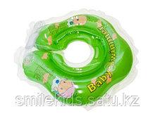 Круг на шею для купания младенцев +погремушка внутри