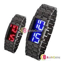Мужские LED часы с металлическим браслетом, фото 1