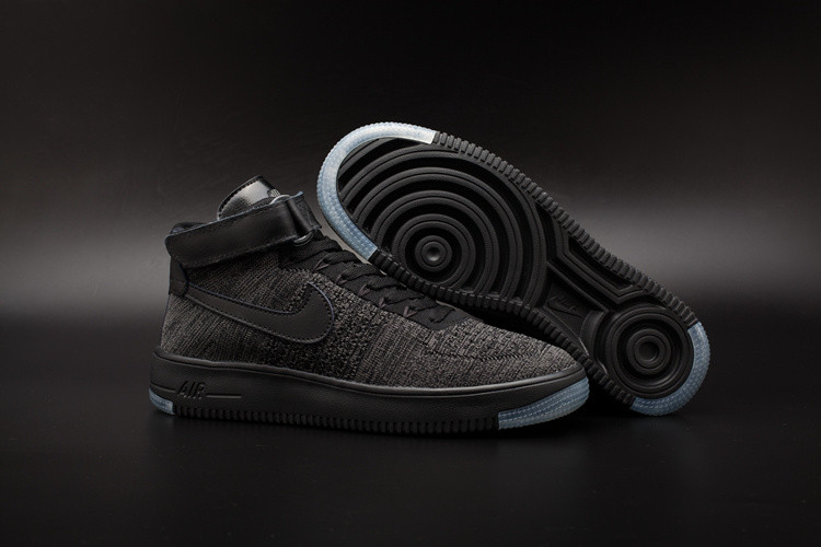 Кроссовки Nike Air Force 1 Mid Flyknit 2016 Black (36-44)