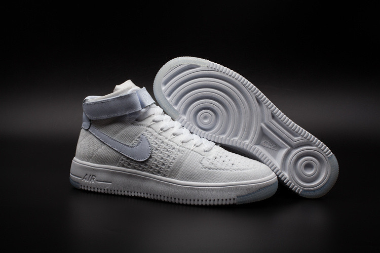 Кроссовки Nike Air Force 1 Mid Flyknit 2016 White (36-44)