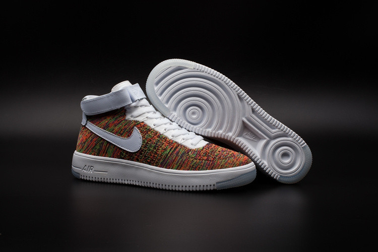 Кроссовки Nikе Air Force 1 Mid Flyknit 2016 Multicolor (36-44)