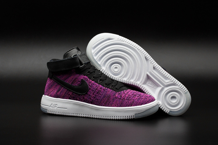 Кроссовки Nike Air Force 1 Mid Flyknit 2016 Purple (36-39)