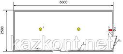 Здание мобильное контейнерного типа 6,0*2,5*2,6 м