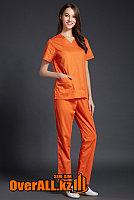 Оранжевый женский медицинский костюм, фото 1