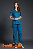 Синий женский медицинский костюм, фото 1