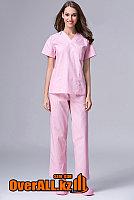 Розовый женский медицинский костюм, фото 1