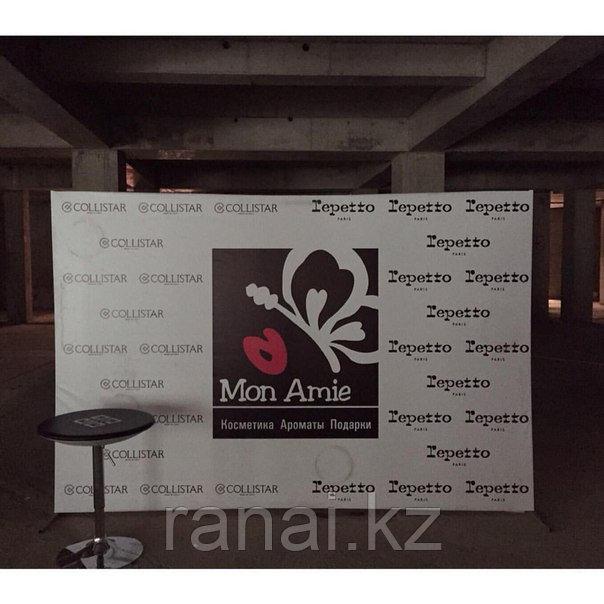 Пресс-стена с печатью в аренду (на свадьбу, на конференций, на выставку)  Аренда в Алматы