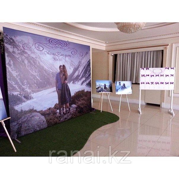 Свадебный баннер в аренду (пресс стена)