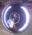 Фары линза с диодной подсветкой (белые) Лада Классика2101/Нива, фото 3