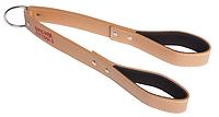 Кожаный ремень для трицепса (винилискожа), с логотипом (FT-L-TP)
