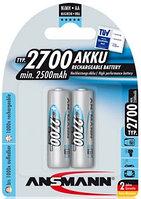 Аккумуляторная батарейка ANSMANN AA 2700 mAh 2 шт/уп.