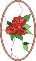 """Шаблон для витража """"Роза в рамке"""""""