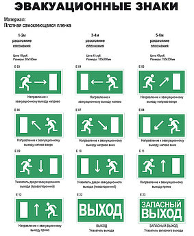 Эвакуационные знаки безопасности в Алматы