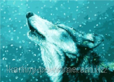 "Картины по номерам  - Алматы, ""Волк под снегом"""