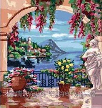 """Картины по номерам  - Алматы, """"Дворец с видом на море 2"""""""