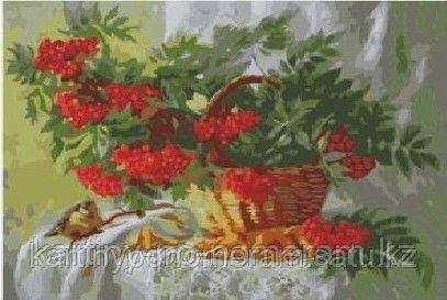 """Картины по номерам  - Алматы, """"Красная рябина"""""""