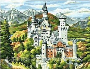 """Картины по номерам  - Алматы, """"Замок Нойшвайнштайн"""""""