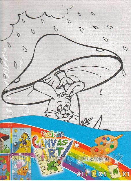 Картины-раскраски для детей Алматы, Грибок 24x30