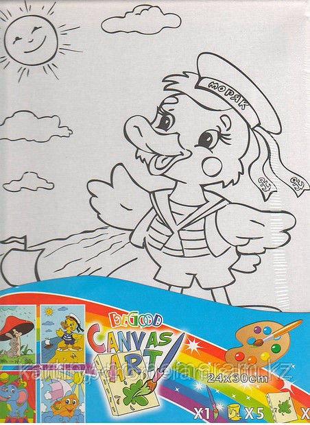 Картины-раскраски для детей Алматы, Утенок 24x30