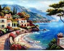 """Картины раскраски по цифрам (по номерам)  """"Монако"""""""