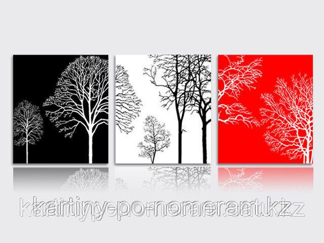 """Картины по номерам (цифрам) """"Три настроения"""", триптих"""