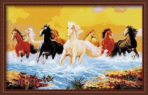"""Картины по номерам  - Алматы,  """"Восемь коней"""""""