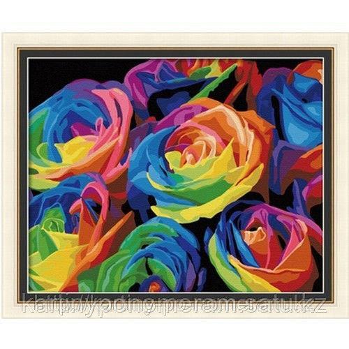 """Картины раскраски по цифрам (по номерам)  """"Радуга роз 2"""""""