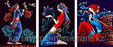 """Картина раскраска по цифрам (по номерам), Алматы -""""Восточные мотивы"""", триптих"""