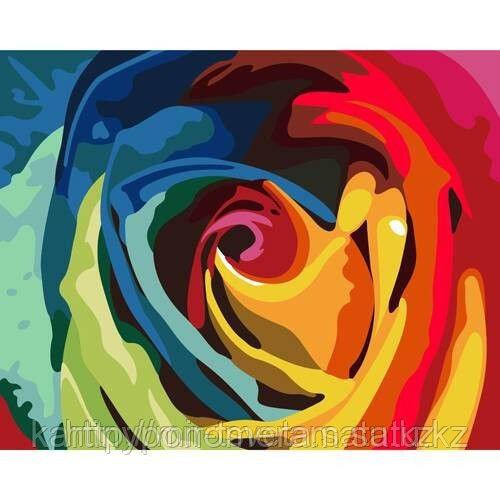 """Картины раскраски по цифрам (по номерам)  """"Радуга роз"""""""