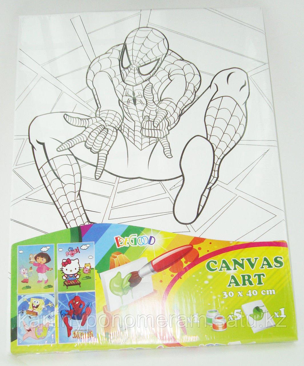 Картины-раскраски для детей Алматы, Спайдермэн 30x40