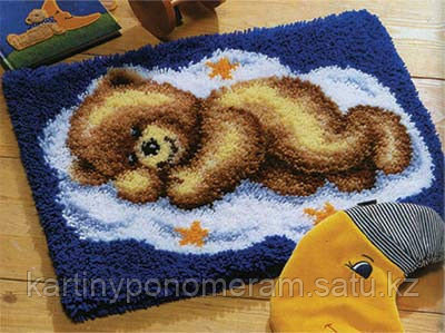 Вышивка в ковровой технике ZD004, 52x38см