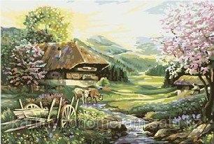 """Картины по номерам  - Алматы, """"Утро в деревне"""""""